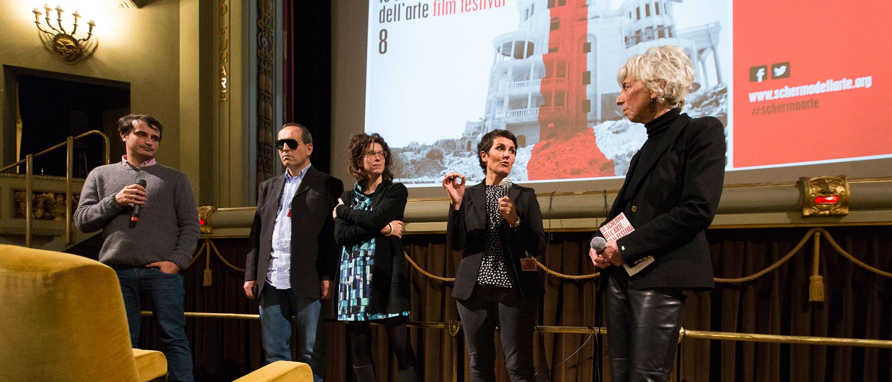 Lo-schermo-dellarte-2015-Giuseppe-Fanizza-Mirco-Mencacci-Marta-Bianchi-Chiara-Agnello-Silvia-Lucchesi